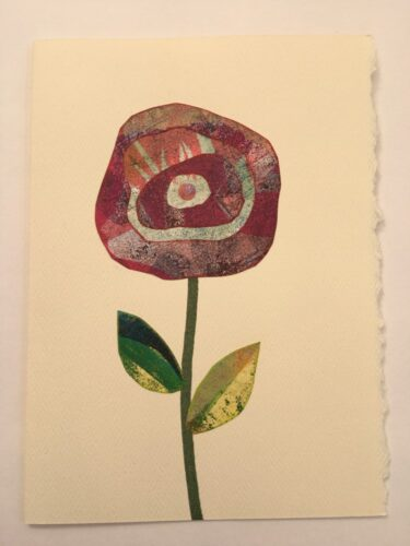 stylized rose 5 x 7 card